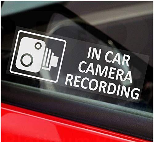 5 x Petits stickers indicateurs d'enregistrement de caméra de voiture-Voir la disponibilité des couleurs-Orange, rouge ou blanc imprimé-CCTV - pour Van, camion, camion, taxi, bus, mini-cab, externe, teinté-Gopro