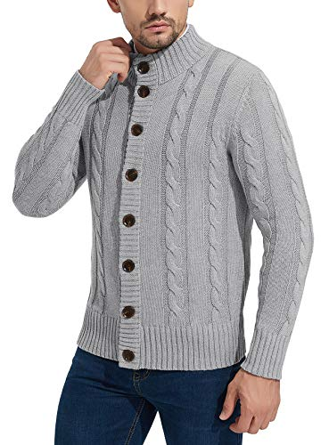 mens cable cardigan sweater