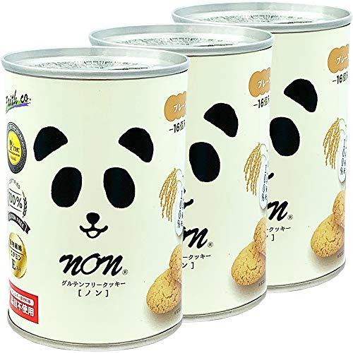 パンだ缶 グルテンフリークッキーの缶詰(16個入) プレーン ×3個
