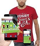 PIXEL EVOLUTION T-Shirt 3D Rugby Biarritz en Réalité Augmentée Homme - Taille XXL - Rouge