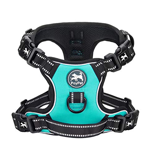 PoyPet No Pull Dog Harness with 4 Snap Buckles,...