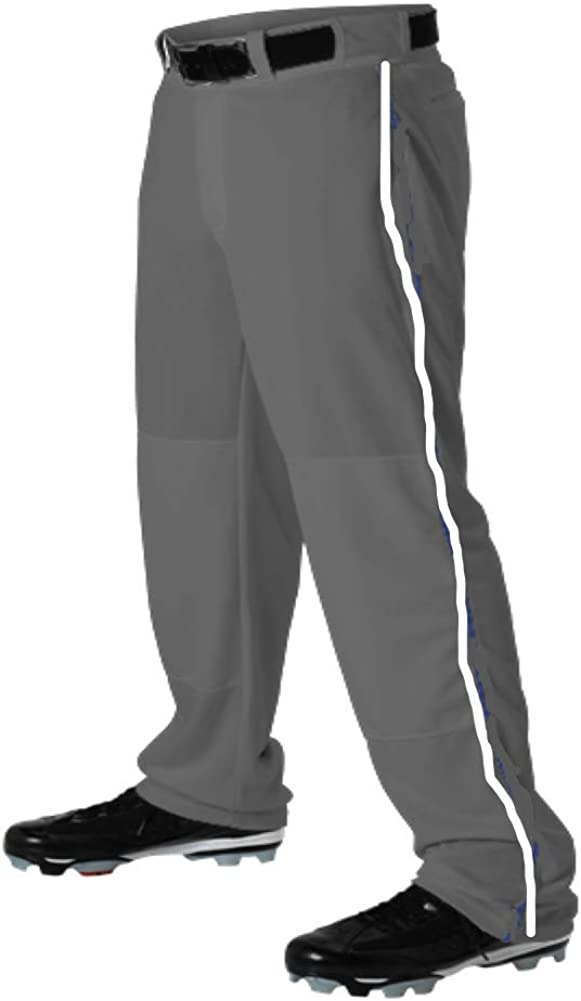 Teamwork Recommended Max 52% OFF Youth Baseball Pants Graphite w White Pipe Open Medium