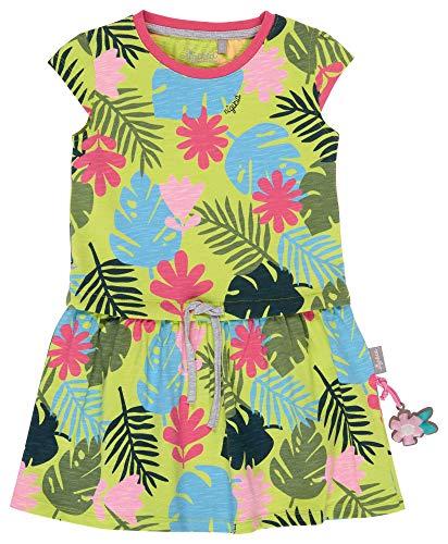 SIGIKID Mini - Mädchen Kleid Sommerkleid Kurzarm aus Bio-Baumwolle, abnehmbares Hangtoy, Mehrfarbig, 110