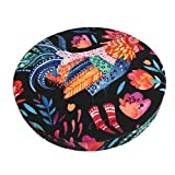 ABODS Watercolor Ornate Rooster Bar Stool Covers Round Cushion Chair Slipcover Washable for Home Hotel