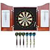 Best Dart Board Sets - Dart Board Set with Solid Wooden Cabinet + Review