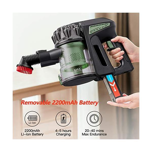 proscenic-Novedad-de-2020-P8-MAX-Aspiradora-sin-Cable-Potente-20kPaMotor-sin-escobillas-de-Mano-2-en-1-con-Varios-Accesoriosbatera-Ion-Litio-extrable-y-Recargable-35-mins-autonoma