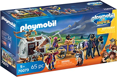 PLAYMOBIL: THE MOVIE Charlie con Carro Prisin, a Partir de 5 Aos (70073)