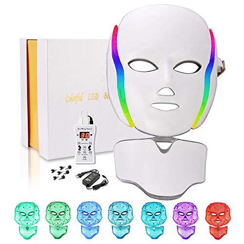 Led Face Mask 7 Colors Led Light Mask Beauty Machine (White)
