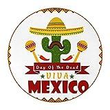 México póster, Conjunto de 6 DIY Esterillas Redonda Super Fibra de Cuero Bebidas Coaster Para Muebles y Mesa Protección y Decoración