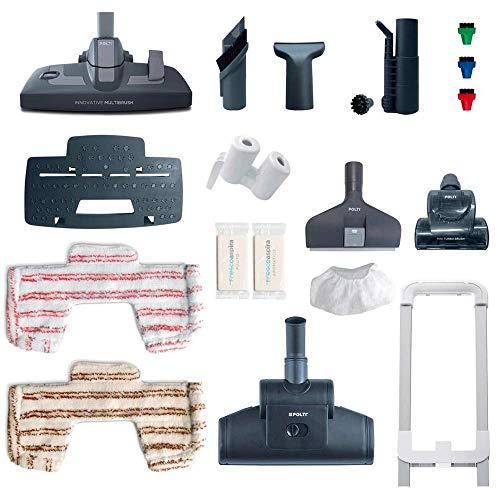 Polti Unico MCV85 TOTAL CLEAN et TURBO Multifonction 3 en 1 Aspirateur et Nettoyeur Vapeur, 6 Bar,...