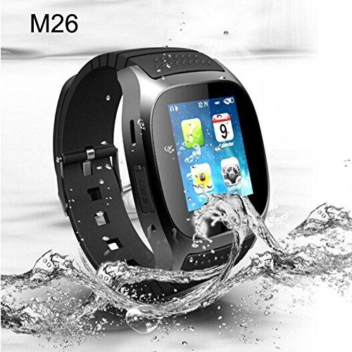 Eglemtek M26 Smartwatch, kompatibel mit Android / iPhone iOS, Bluetooth, LED