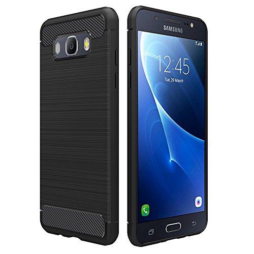 Simpeak Cover Compatibile per Samsung Galaxy J5 2016 5.2', Nero Custodia Compatibile con Samsung Galaxy J5 Silicone Molle Cover Soft TPU Case