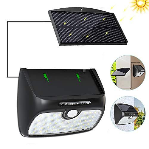 Solarlampen für Außen, Cocoda Solarleuchte Garten 48 LEDs [mit Trennbarem Solarpanel] Solar Gartenleuchte mit Bewegungsmelder, wasserdichte Solarlampe für Balkon, Lager, Patio, Deck, Hof