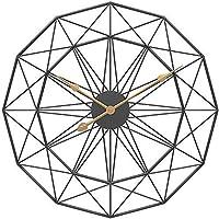 家庭用品壁掛け時計両面壁掛け時計シンプルなレトロなリビングルーム錬鉄製装飾時計金属時計黒60X60X6Cm