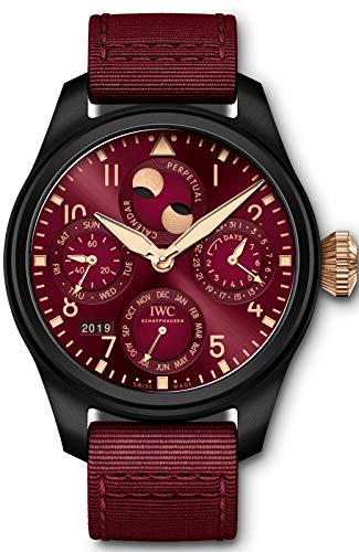 IWC Big Pilot's Perpetual Calendar Limited Edition Lewis Hamilton Burgandy Watch IW503002