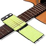 Guitar String Cleaner, 2Pcs Fingerboard Guitar Cleaning Kit, Brass String Cleaner Cloth for Guitar, Fretboard Guitar Scrubber for Bass, Mandolin,Ukulele