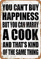 シェフと結婚できます メタルポスター壁画ショップ看板ショップ看板表示板金属板ブリキ看板情報防水装飾レストラン日本食料品店カフェ旅行用品誕生日新年クリスマスパーティーギフト