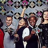 35 Stück 7 Zoll 1950er Jahre Rock'n'Roll Musik Party Dekorationen Rekord Bunte Ausschnitte Wand Dekor Zeichen für 50er Jahre Thema Musik Party Gefallen (50er Jahre Rock Party Dekorationen) - 5