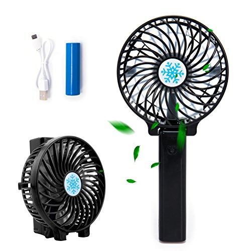 USB Mini ventilador portátil, plegable, ventilador de escritorio con batería y 3 velocidades, pequeño y silencioso ventilador personal para el aire libre, para casa, oficina