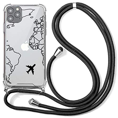 ZhuoFan Lanyard Case for Xiaomi Poco X3 NFC 4G - 6.67 Inch Crossbody with Strap, Lanyard Neck Strap Phone Neck Holder Phone Holder for Neck-Phone Necklace Cases, Cover Neck Strap-Aircraft