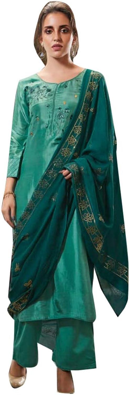 Indian Ethnic Arctic bluee Casual Wear Pakistani Loose Suit 7503