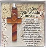 50th Anniversary Gift: Handmade Glass Cross