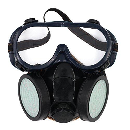 Olusar Mascarilla Antipolvo Máscara Respiratoria Filtros con Protección Gafas