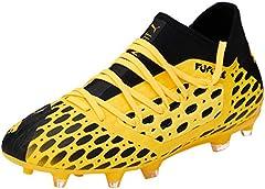 PUMA Future 5.3 Netfit FG/AG Jr, Zapatillas de Fútbol Unisex Adulto, Amarillo (Ultra Yellow Black), 37 EU