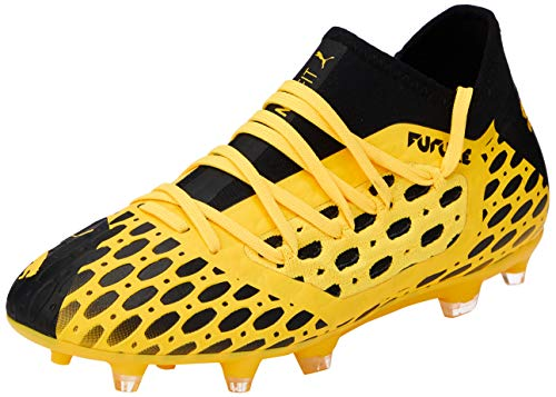 PUMA Future 5.3 Netfit FG/AG Jr, Scarpe da Calcio Unisex-Adulto, Giallo (Ultra Yellow Black), 36 EU