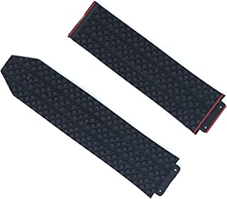 PAZHOU New Watch Accessories Rubber Strap for Hublot Big Bang Series 17mmx25mm Men and Women Watch Band Accessories (Band ...