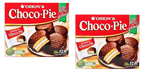 2 Boxes Orion Choco Pie with Marshmallow Cream 24 Packs