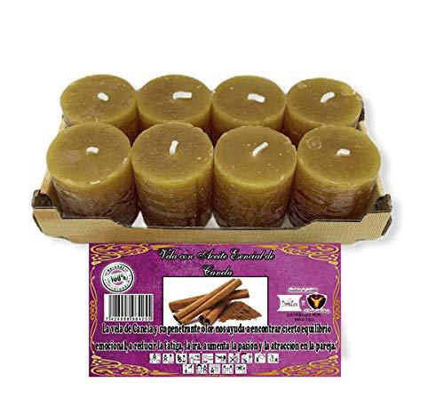 Pack 8 velas perfumadas aroma Canela + incienso en grano + pastilla...