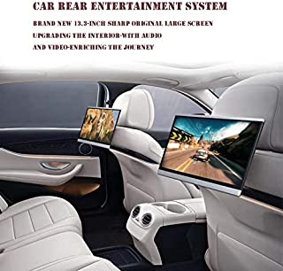 13.3-inch Screen Android 8.1 Headrest Monitors Car Videos, Rear Entertainment System Support WiFi/Wireless Miracast/Blueto...