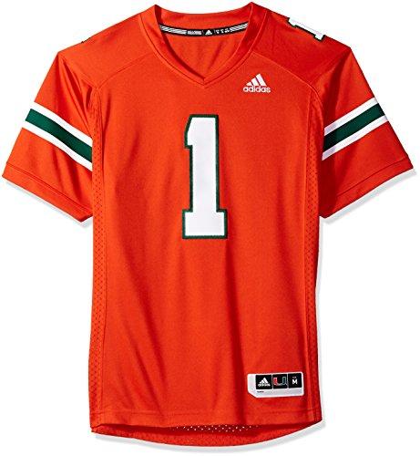 adidas Adult Men NCAA Premier Football Jersey, Small, Orange, Miami Hurricanes