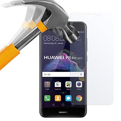 moodie Panzerglas Folie für Huawei P8 Lite 2017 [2 Stück] - Premium Glasfolie 9H Panzerglasfolie Schutzfolie für Huawei P8 Lite 2017