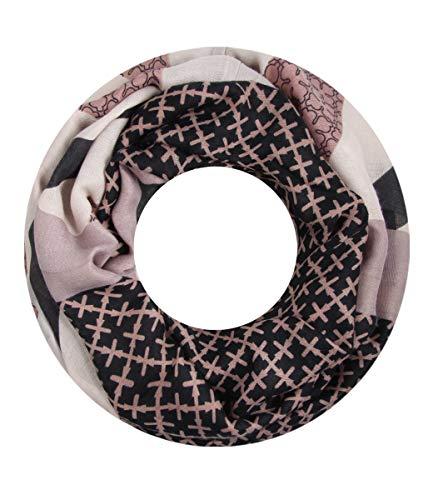 Majea Loop Schal Damen Schlauchschal - viele Farben - modischer Loopschal - Halstücher (rosa (mauve) 1)