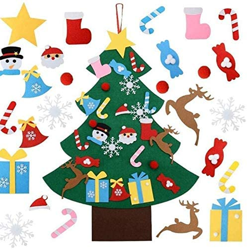 NDV18 STORE 4 years warranty Christmas Tree Seasonal Wrap Introduction DIY Handmade Felt Kids New Year Gifts