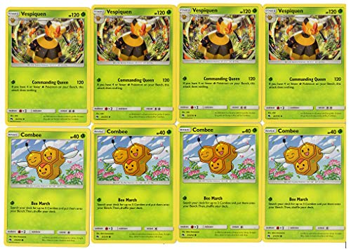 Pokemon Evolution PLAYSET Set - VESPIQUEN & Combee - Sun Moon Lost Thunder - 8 Card LOT
