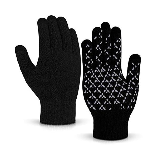 Balhvit Winter Gloves for Men Women Anti Slip TouchScreen Gloves for Extreme Cold