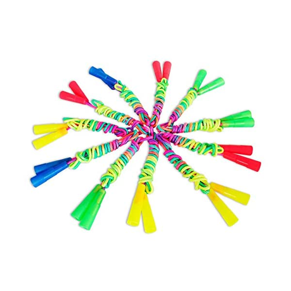 Craft Depot Ropes for Kids – Pack of 12 – Durable Jump Ropes with Plastic...