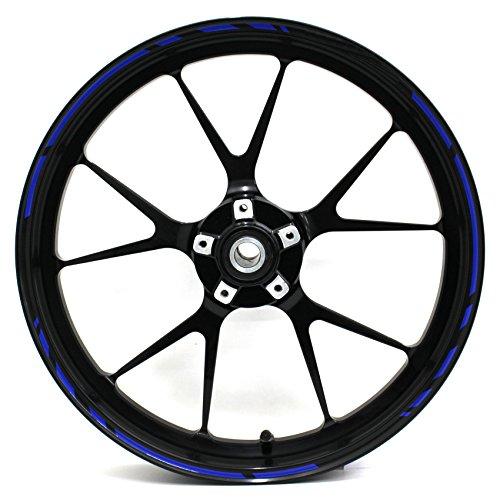 Adesivi per cerchioni Race Design 12 pezzi, set completo Finest Folia adatto per 17 pollici & 16' 18' 19' cerchioni moto auto bicicletta
