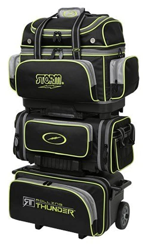 Storm 6 Ball Rolling Thunder Bowling Bag- Black/Gray/Lime