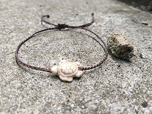 Turtle white stone San Antonio Mall Product anklets handmade is fo It fashionable