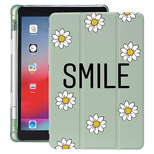 lingtai Daisy Sunflowers For Ipad Case With Pencil Holder Air 4 10.2 8th 2020 7th 6th 12.9 Pro 11 2018 Mini 5 Cover For 10.5 Air 1 2 3 (Color : 2005565, Size : 10.5 inch pro Air 3)