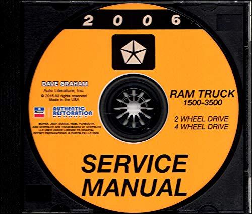 2006 DODGE RAM TRUCK PICKUP REPAIR SHOP & SERVICE MANUAL CD For 1500, 2500, 3500