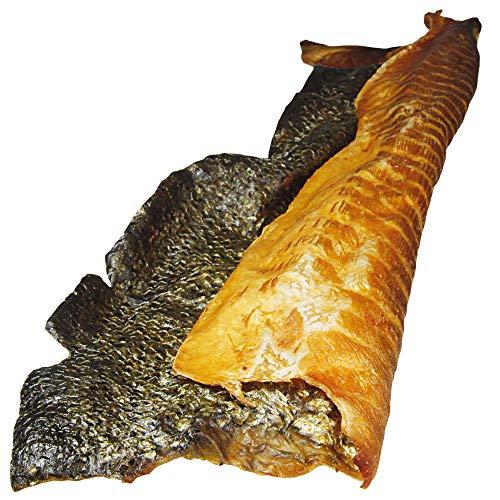 Schecker Lachshaut XXL 3 Stück - geräuchert - mit Fleischansatz Herrlich duftend und mit natürlichem Lachsöl lecker benetzt