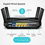 TP-Link AC4000 Smart WiFi Router - Tri Band Router , MU-MIMO, VPN Server, Antivirus/Parental Control, 1.8GHz CPU… 14 JD Power Award ---Highest in customer satisfaction for wireless routers 2017 and 2019 4K video, streaming, gaming is no problem for the A20 with incredible AC4000 tri band speeds Top of the line 1.8 GHz 64 Bit processing to smoothly process multiple requests and accelerate loading Times