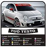 adesivi FASCIA PARASOLE stickers decals (NERO OPACO (SCRITTA BIANCA))
