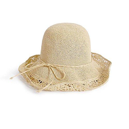 Sunny Honey Der Strohhut-Hut-Visor-Hut Der Frauen Sonnenhut-vorzüglicher Handgewebter Faltbarer Eimer-Hut-Sommer