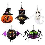 FORMIZON Lanterna di Halloween, Halloween Carta Lanterne, Lanterna di Carta, Lanterna di Halloween del Ragno del Pipistrello della Zucca, Forniture per Halloween, Decorazione di Halloween per bambini